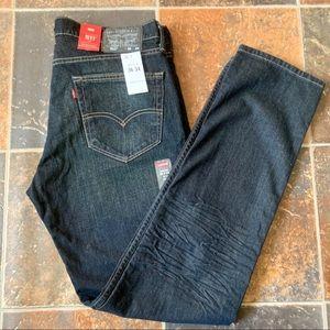 Levi's 511 Jeans 36 34 Black Label Slim Stretch